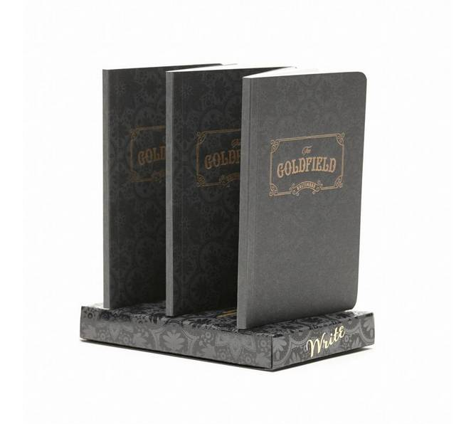 "Write Notepads & Co. Notebooks- ""The Goldfield"" 3-pack"