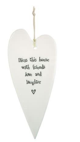 Bless This House Heart Ornament