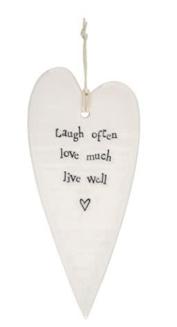 Live Well Heart Ornament