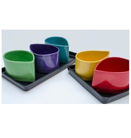 Large Black Ceramic Tray