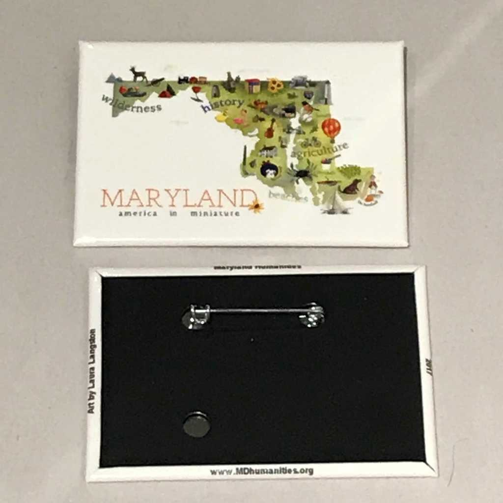 MD Humanities Council Pin  - America in Miniature