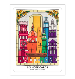 Set of 6 Notecards - Baltimore: Through a Glass Brightly