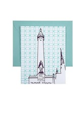 Tiny Dog Press Single Cards - Washington Monument, Purple/Teal