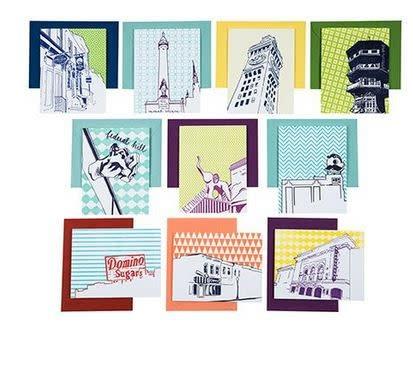 Tiny Dog Press Baltimore Neighborhoods Pack of 10 Cards | Letterpress City Cards