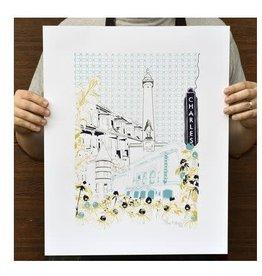 "Tiny Dog Press 16"" x 20"" Art of the City Print"