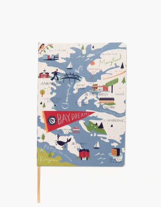 Spartina 449 Bay Dreams Notebook- 5x7, Ruled