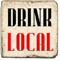 Marble Coaster - Drink Local