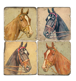 Marble Coaster - Horse Heads