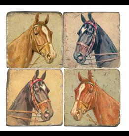 Studio Vertu Marble Coaster - Horse Heads