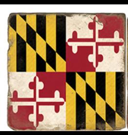 Marble Coaster - Maryland Flag