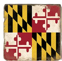 Maryland Flag Marble Coaster