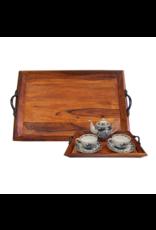 Madison Bay Company Wooden Tea Tray, Large