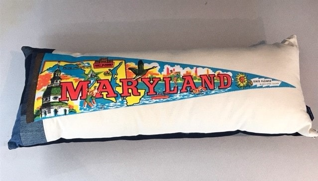 American Roadtrip American Roadtrip Pennant Pillow -  Maryland, Large