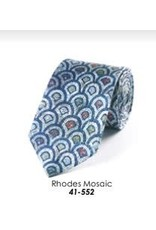 Fox & Chave Fox & Chave Neck Tie, Rhodes Mosaic