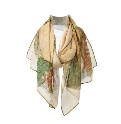 Fox & Chave Fox & Chave Chiffon Scarf, Pompeii Young Girl