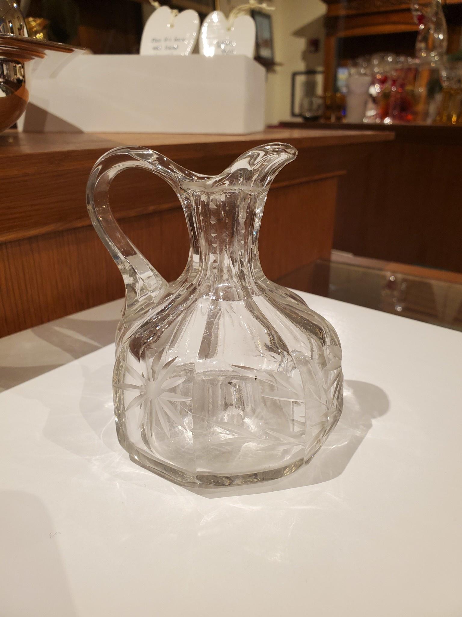 Hand-blown Crystal Cruet Bottle