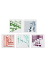 Tiny Dog Press Baltimore Maryland | Icons | Letterpress Coasters Package of 5