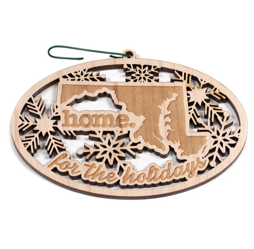 Home State Apparel MD home. for the Holidays Ornament