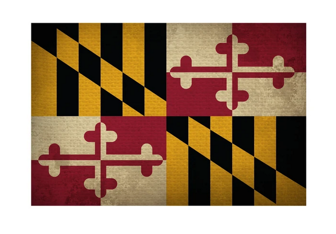 Home State Apparel Maryland State Flag Magnet
