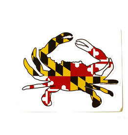 Sticker- MD full Flag Crab, Small
