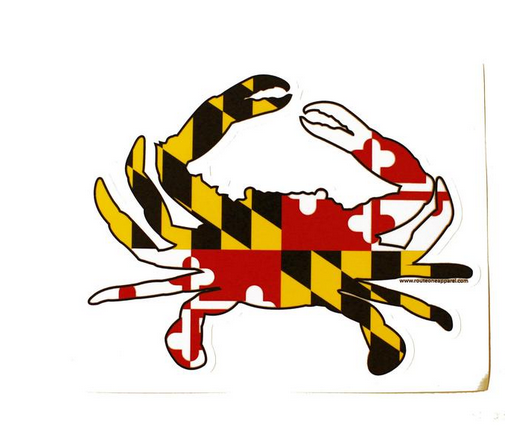 Sticker- MD full Flag Crab, Small
