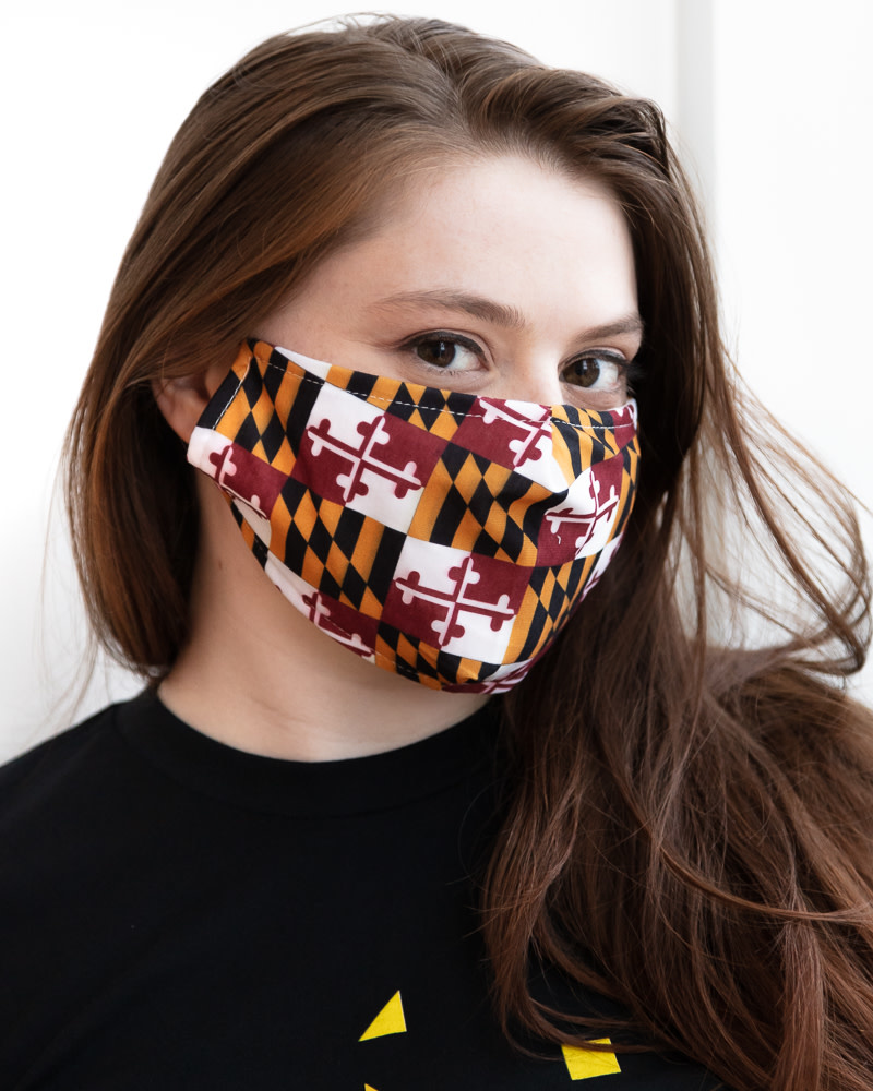 Maryland Flag Face Mask, Cotton