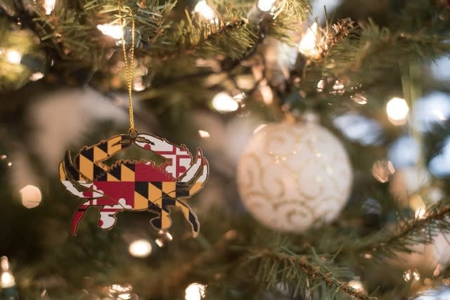 Maryland Flag Crab Ornament