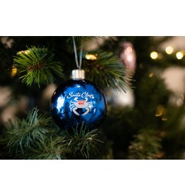 Santa Claws Light-Up Glass Ornament