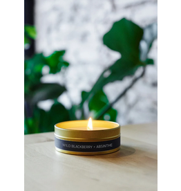 228 Grant Street Candle Co. Wild Blackberry + Absinthe- 4oz Gold Travel Tin