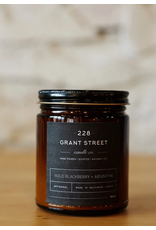 228 Grant Street Candle Co. Wild Blackberry + Absinthe- 9oz Amber Jar Candle