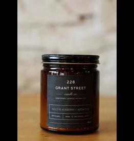 228 Grant Street Candle Co. Wild Blackberry + Absinthe- 9oz Amber Jar