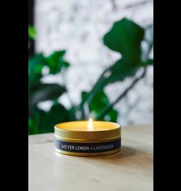 228 Grant Street Candle Co. Meyer Lemon + Lavender- 4oz Gold Travel Tin