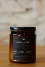 228 Grant Street Candle Co. Meyer Lemon + Lavender- 9oz Amber Jar