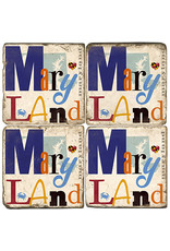 Maryland Collage Marble Coaster