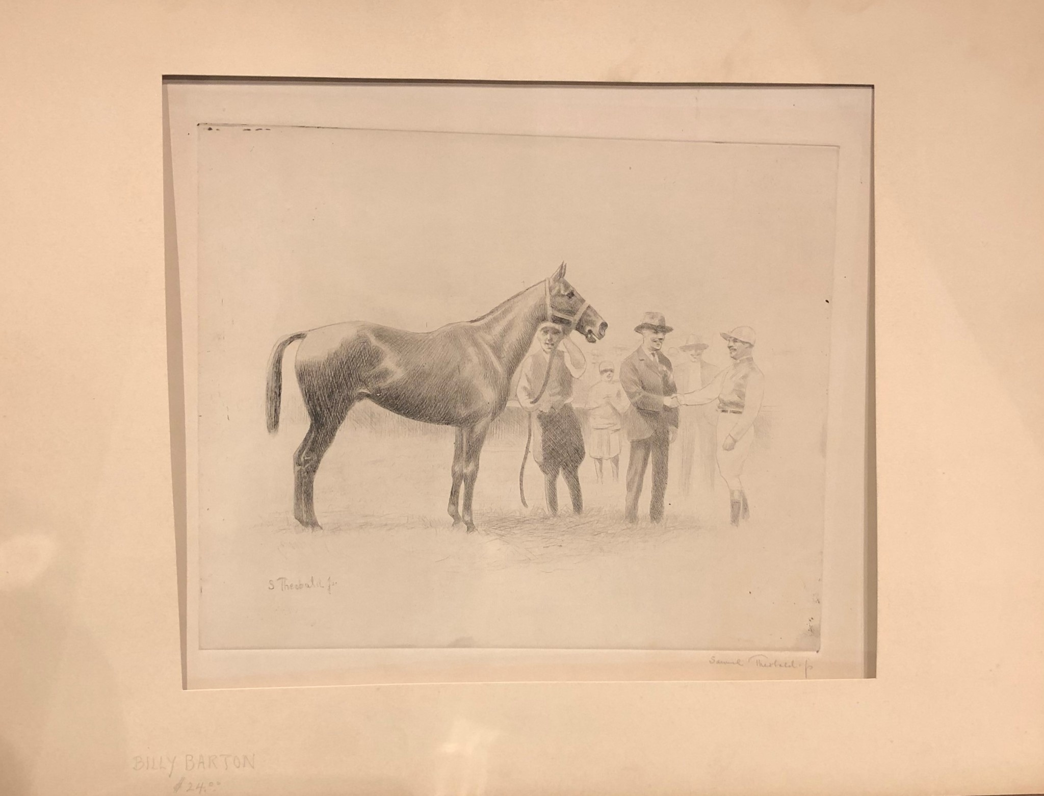 Horse Drawing with Matte Print