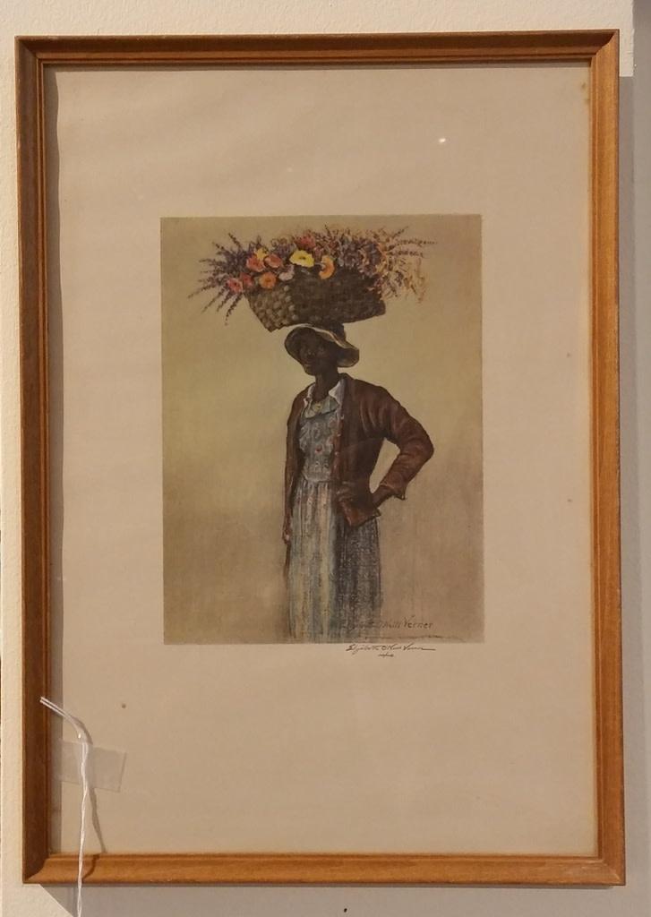 Charleston Flower Seller by Elizabeth Verner Framed Prints
