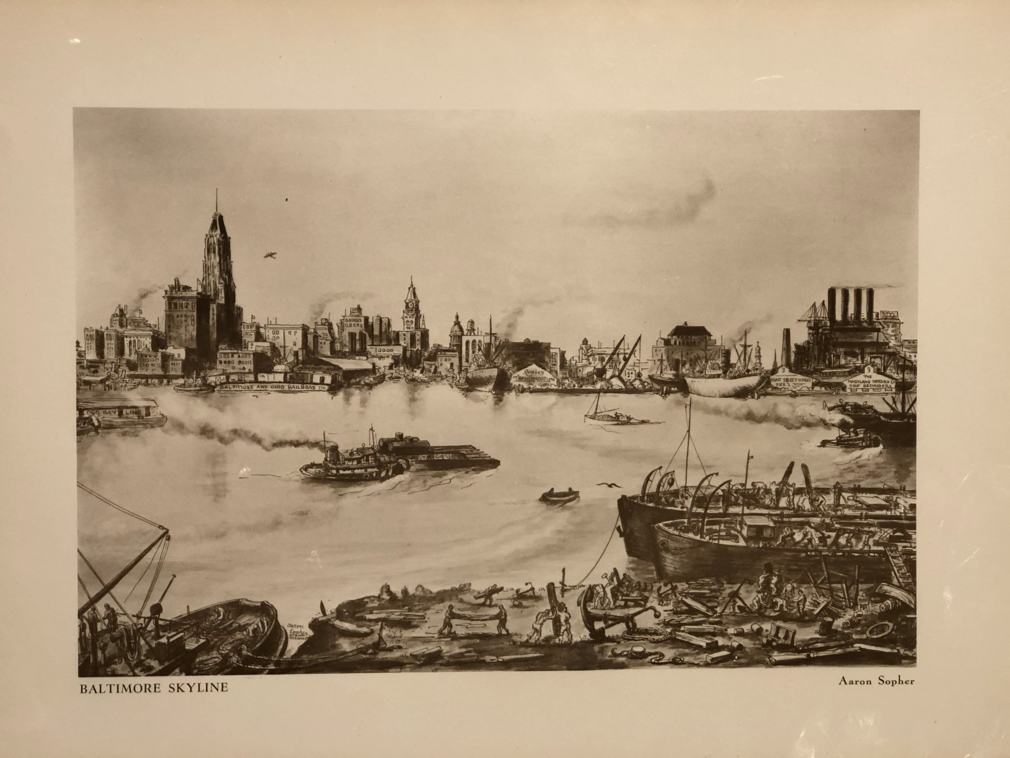 Baltimore Skyline by Aaron Sopher, Matte Print