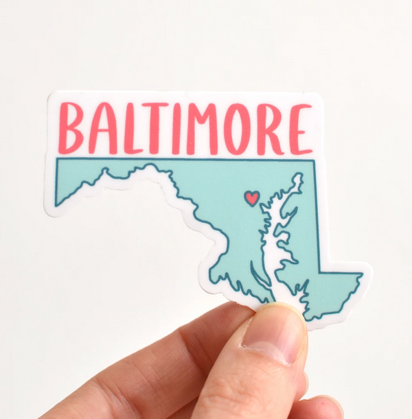 Row House 14 Baltimore Vinyl Sticker