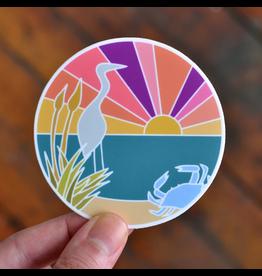 Row House 14 Chesapeake Bay Vinyl Sticker