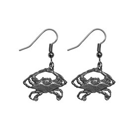 Pewter Crab Earrings