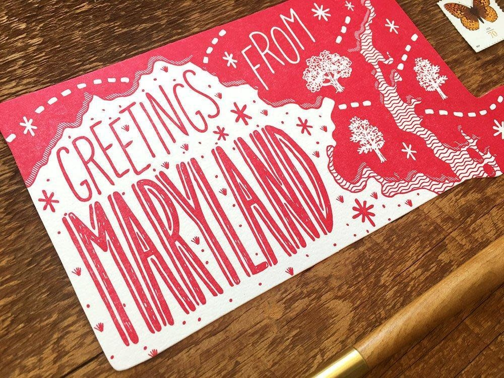 Postcard- Greetings from MD, LG