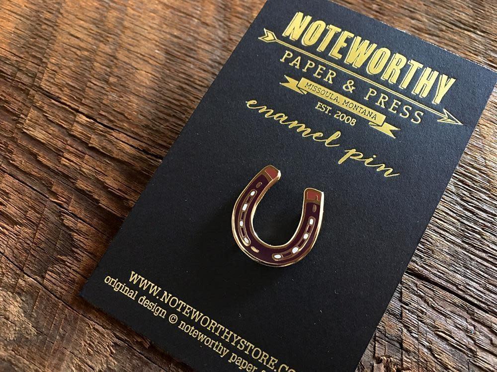 Horseshoe Enamel Pin