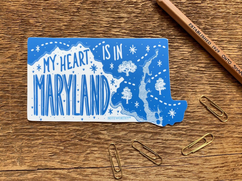 My Heart in MD Sticker