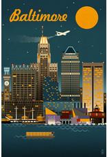 Baltimore Retro Skyline 1000 Pc Puzzle
