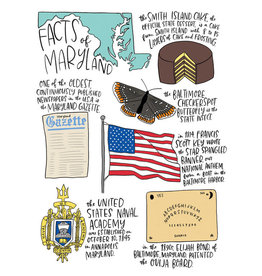 Allport Editions Maryland Facts Notecard, single