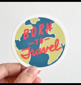 Row House 14 Born to Travel Vinyl Sticker