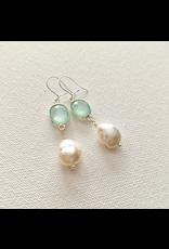 Chalcedony & Pearl Earrings