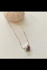 Ruby in Fushite Teardrop Necklace