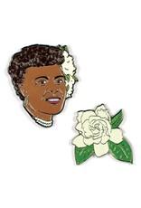 Unemployed Philosophers Guild Pin- Billie Holiday & Gardenia Set