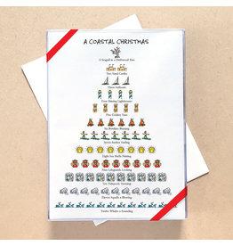 Allport Editions Coastal 12-Days of Christmas Card Set